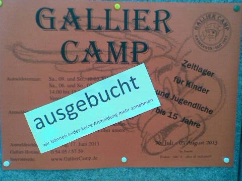 Gallier Camp 2013 in Freren AUSGEBUCHT
