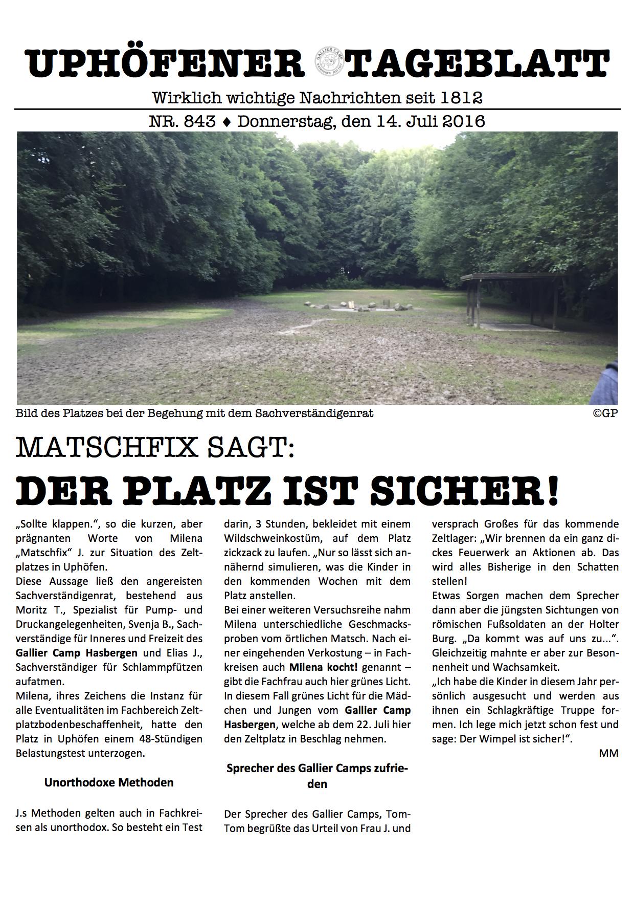 Uphoefener_Tageblatt_Ausgabe_1